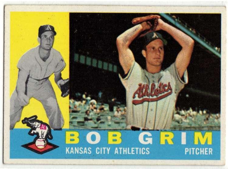 1960 Topps #78 Bob Grim