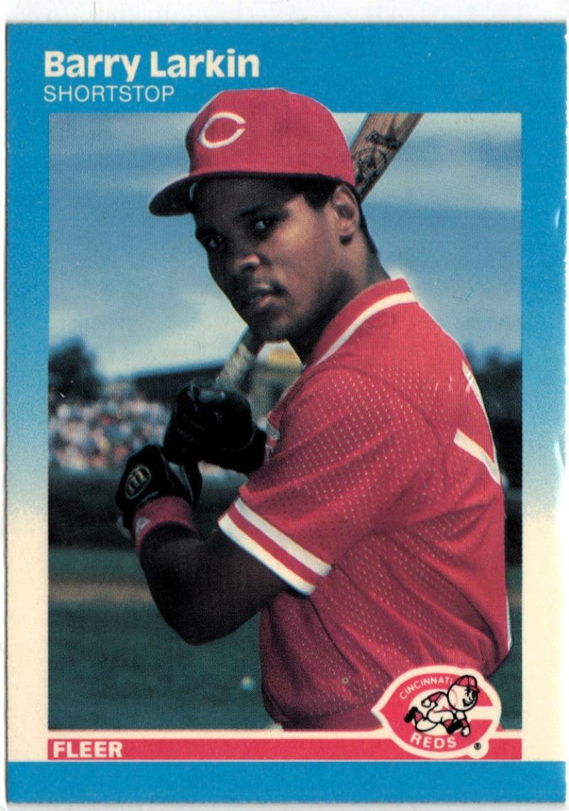 1987 Fleer  #204 Barry Larkin RC NM 50/50!