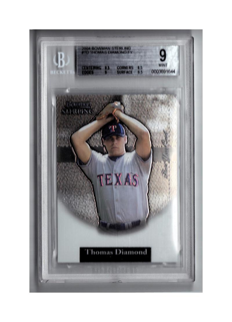 2004 Bowman Sterling #TD Thomas Diamond FY RC Beckett Graded BGS 9  Mint