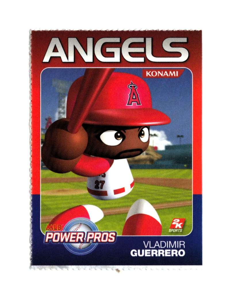 2007 Komani Power Pros 2K Sports NNO   Vladimir Guerrero EX Perforated