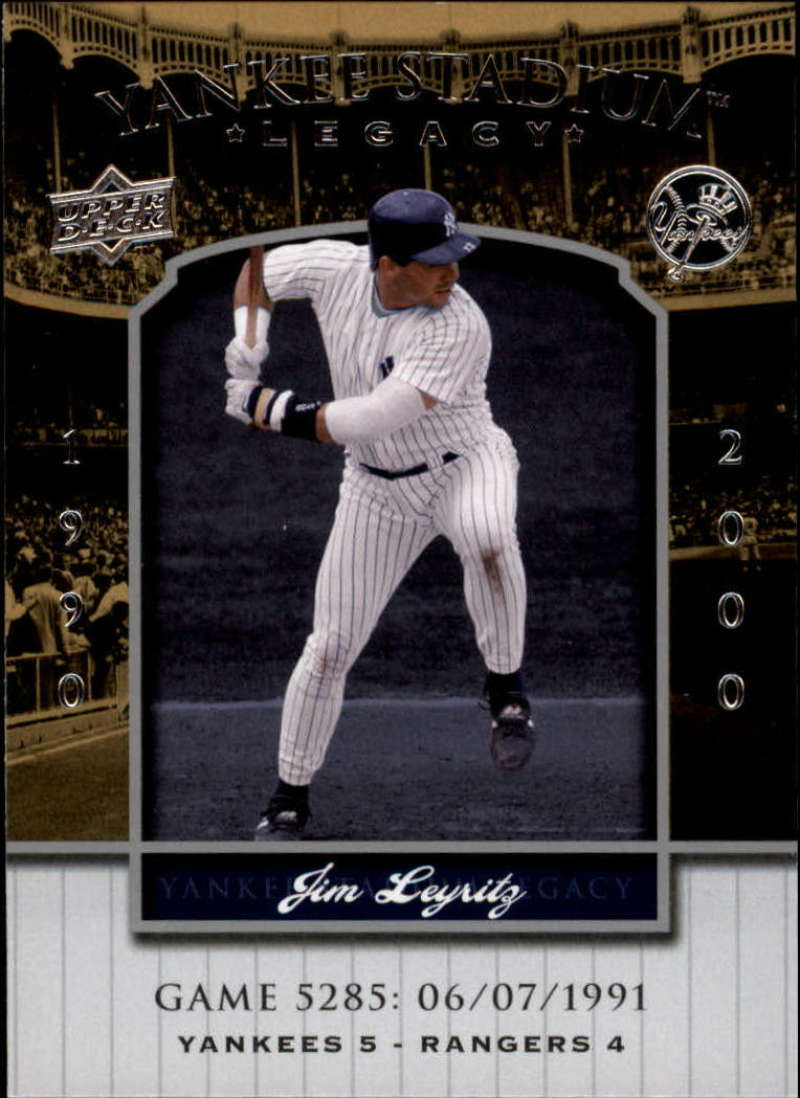 2008 Upper Deck Yankee Stadium Legacy Collection #5285 Jim Leyritz EX