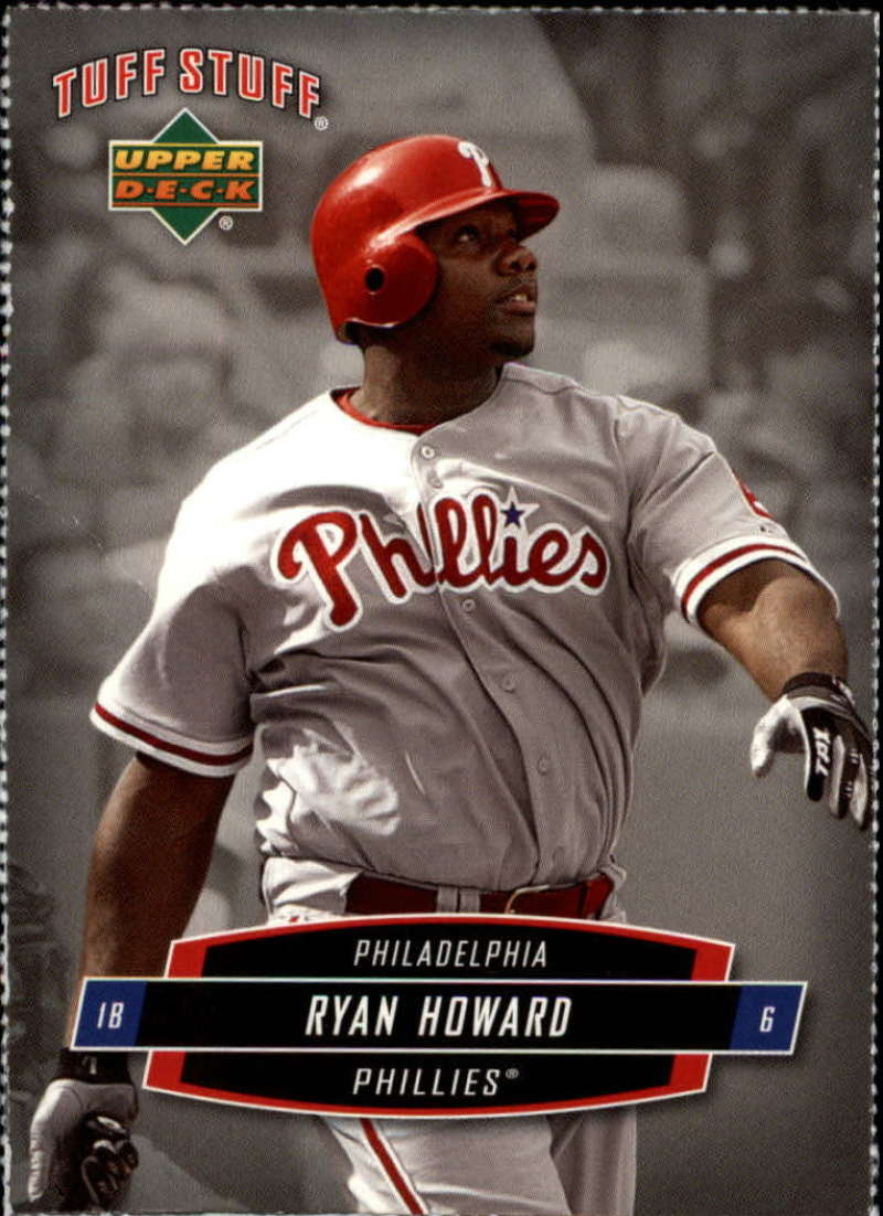 2006 Upper Deck Tuff Stuff #23 Ryan Howard Perforated