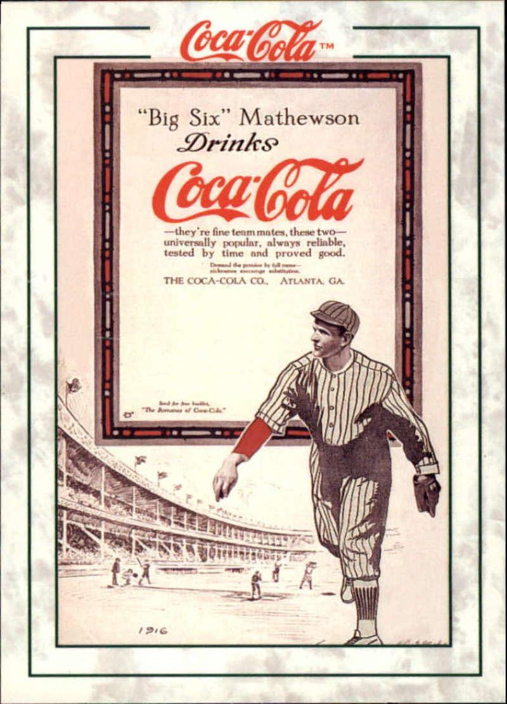 1994 Tuff Stuff Coca-Cola Collection #CM-2 Christy Mathewson EX