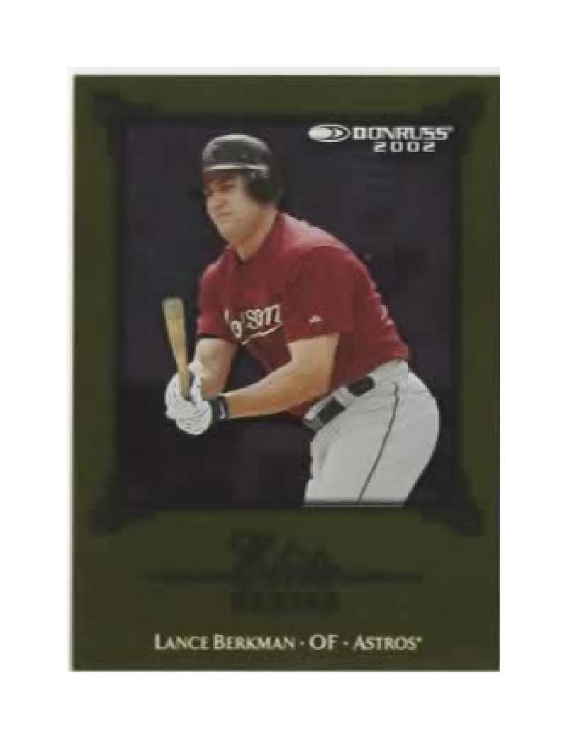 2002 Donruss Elite Series #2 Lance Berkman #'d 797/2500