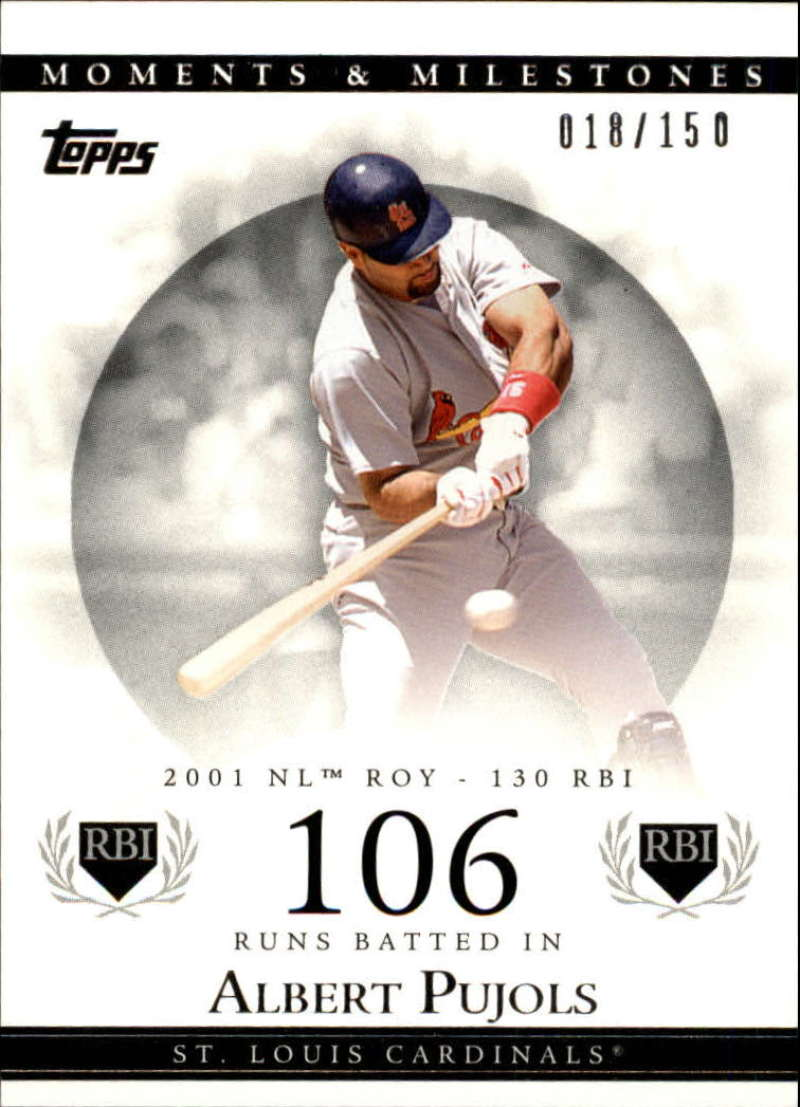 2007 Topps Moments and Milestones #2-106 Albert Pujols/RBI 106 #'d/150