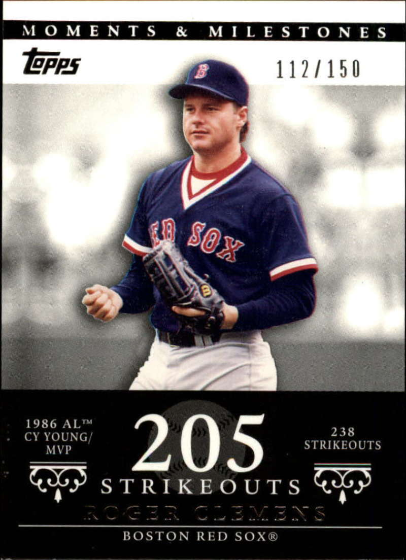 2007 Topps Moments and Milestones #18-205 Roger Clemens/SO 205 #'d/150