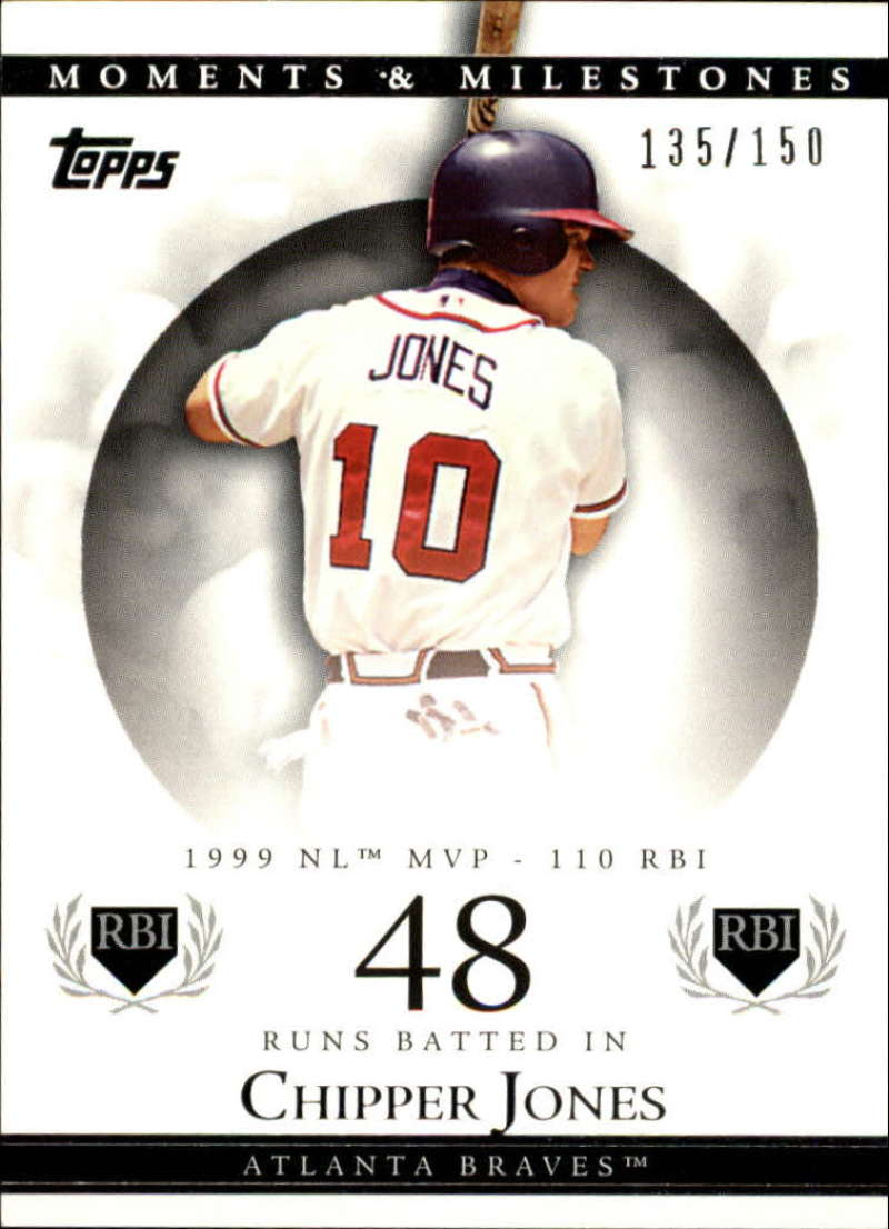 2007 Topps Moments and Milestones #22-48 Chipper Jones/RBI 48 #'d/150