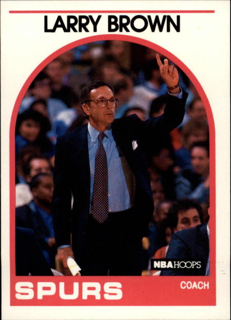 1989-90 Hoops #102 Larry Brown CO
