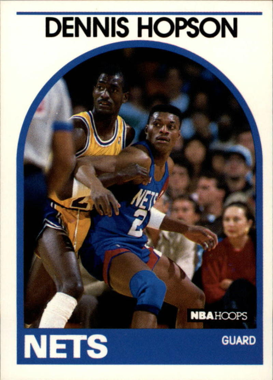 1989-90 Hoops #199 Dennis Hopson RC