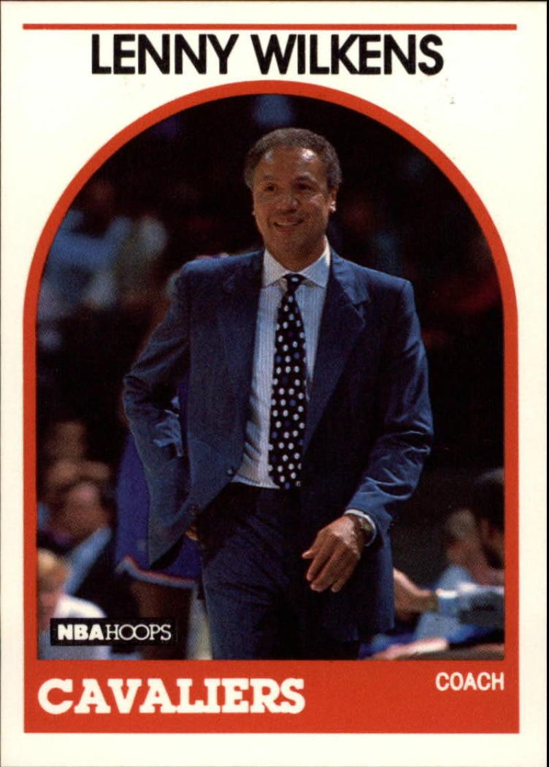 1989-90 Hoops #216 Lenny Wilkens CO, UER