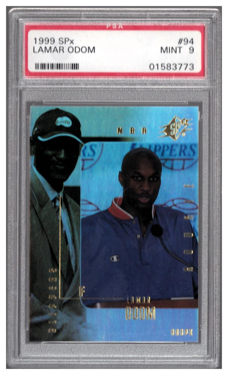1999-00 SPX #94 LAMAR ODOM RC PSA 9 Serial #'d to 3500 Mint