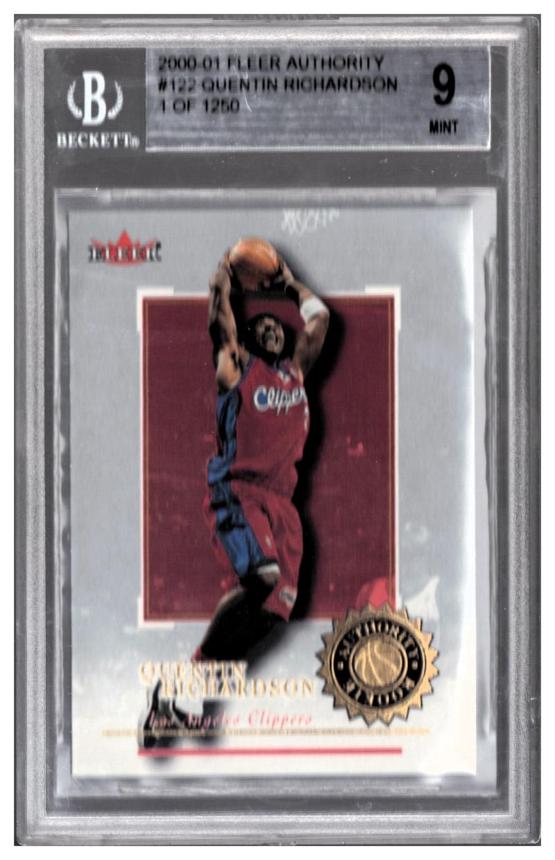 2000-01 FLEER AUTHORITY #122 QUENTIN RICHARDSON RC Graded BGS 9 Mint 1 of 1250