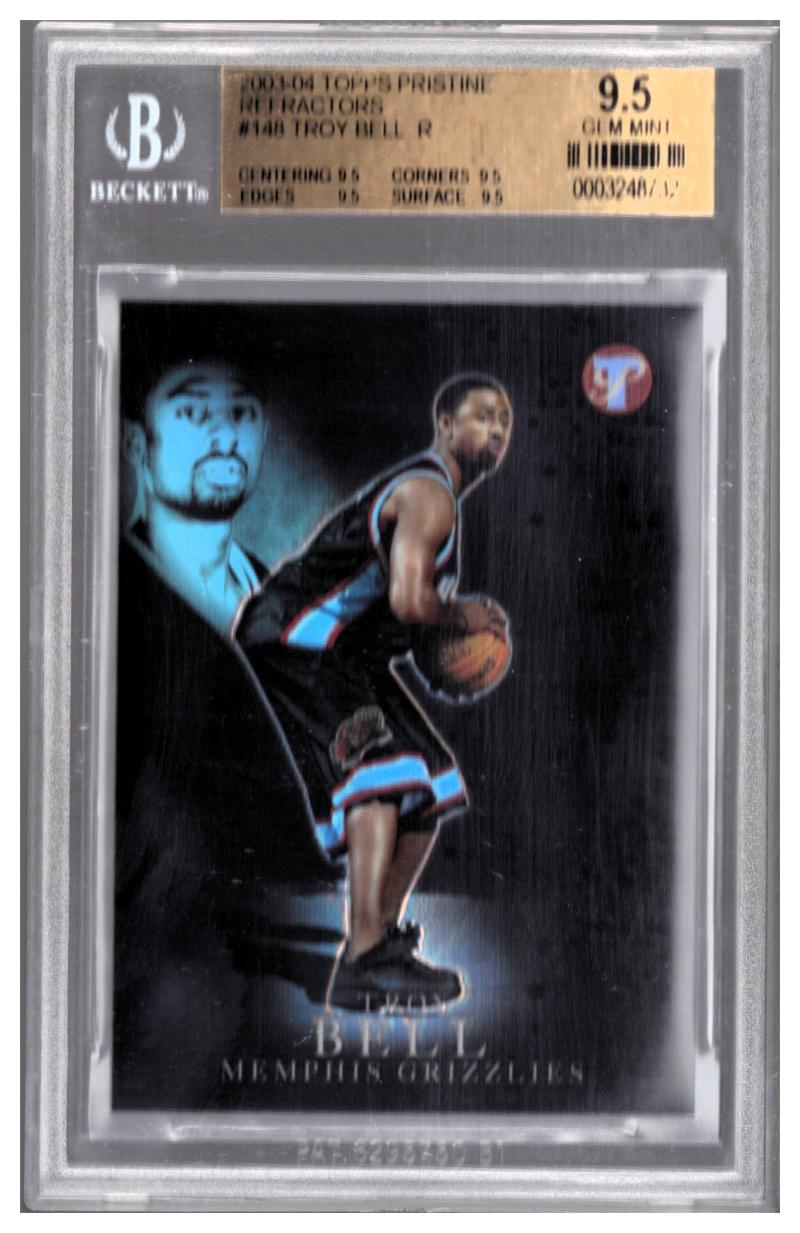 2003-04 TOPPS PRISTINE REFRACTORS #148 TROY BELL R BGS 9.5 #'d 14/149