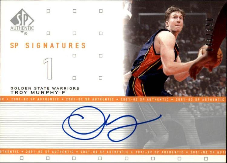 2001-02  SP Authentic Signatures #TM Troy Murphy Autograph #'d43/390