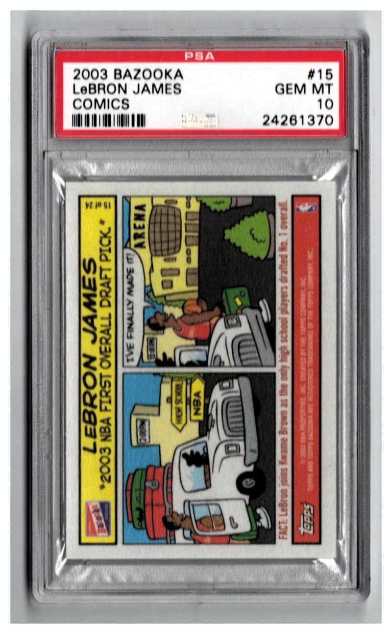 2003-04 Topps Bazooka Comics #15 LeBron James PSA 10