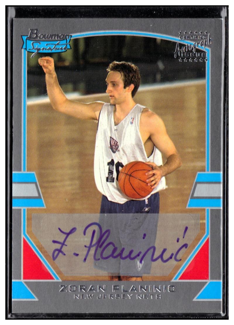 2003-04 Bowman Signature Edition Silver #72 Zoran Planinic EX++ Auto #'d/249
