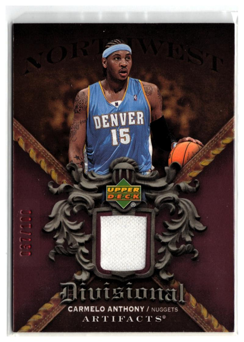 2007-08 Artifacts Divisional Artifacts Red #DACA Carmelo Anthony #'d/100