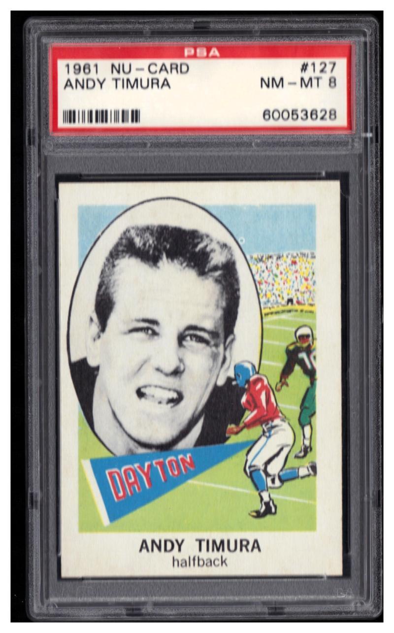 1961 Nu-Cards #127 Andy Timura Graded PSA 8 NM-MT