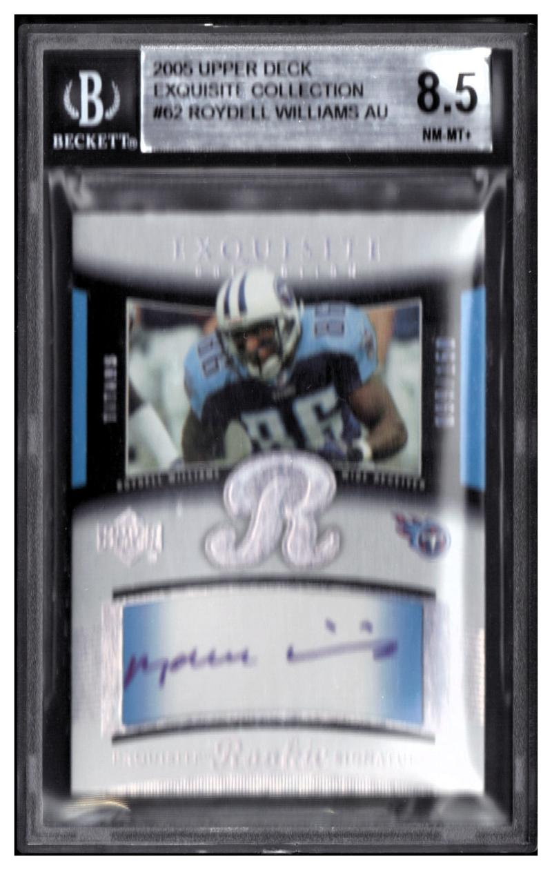 2005 Exquisite Collection #62 Roydell Williams RC BGS 8.5 AU #'d /150