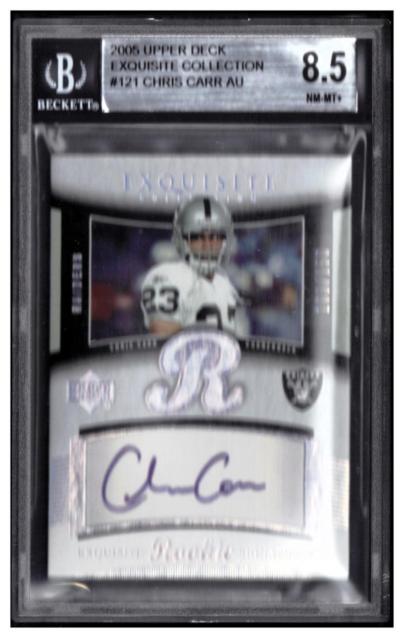 2005  Exquisite Collection #121 Chris Carr RC AU BGS 8.5 #'d /150