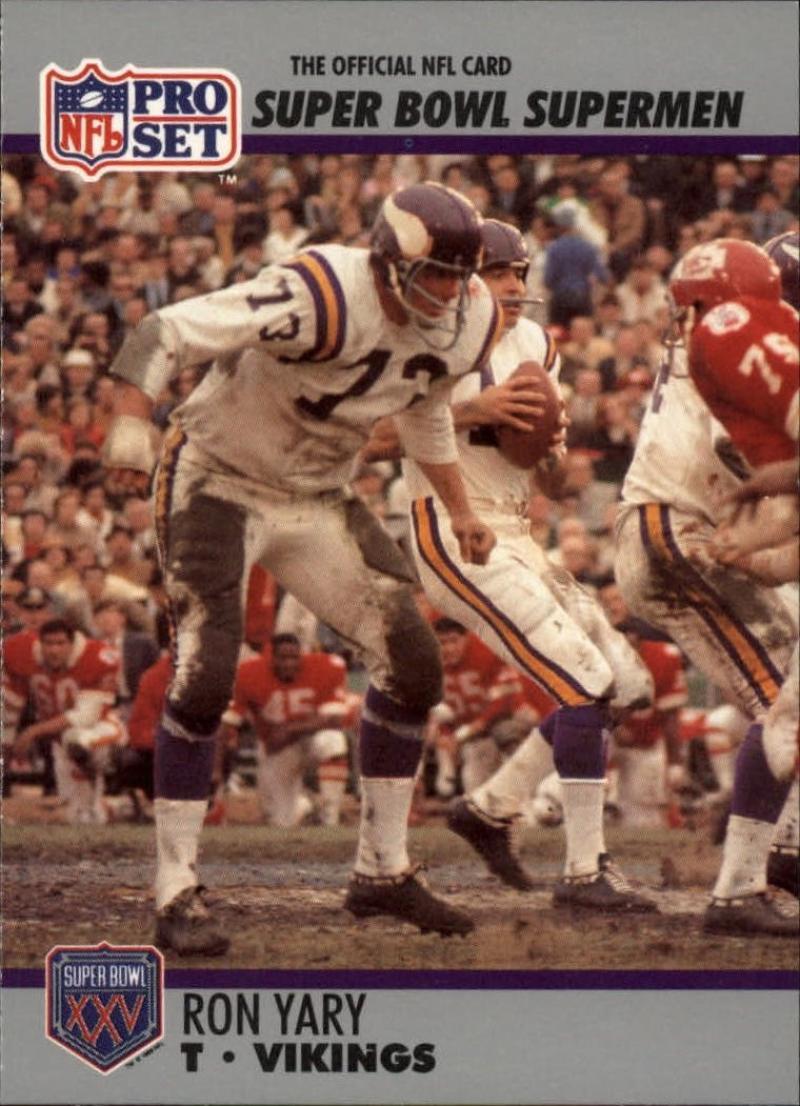 1990 Pro Set Super Bowl 160 #62 Ron Yary