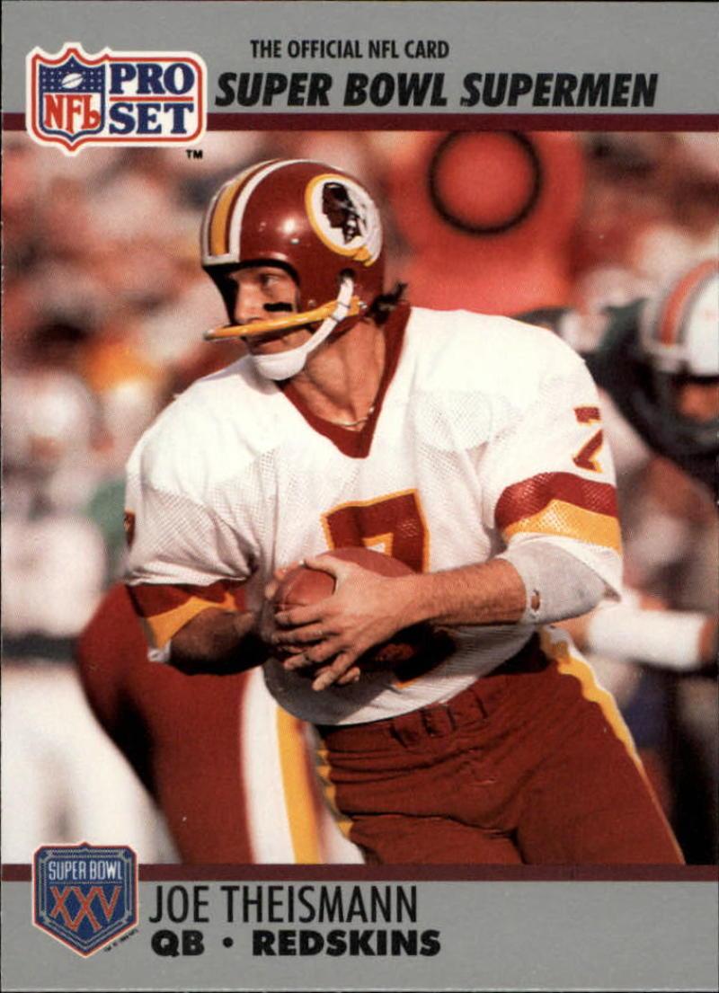 1990 Pro Set Super Bowl 160 #133 Joe Theismann EX/NM
