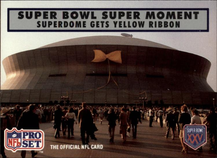 1990 Pro Set Super Bowl 160 #146 Yellow Ribbon EX/NM
