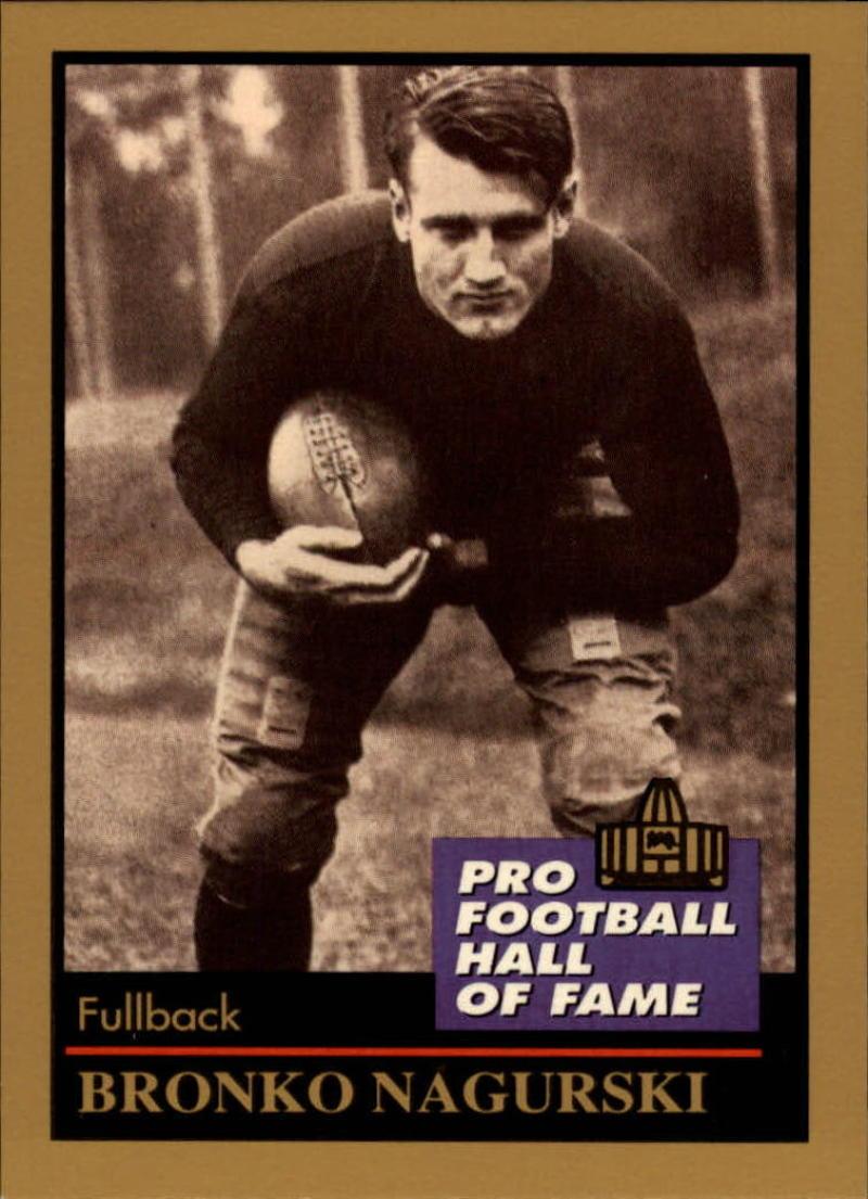 1991 ENOR Pro Football HOF #105 Bronko Nagurski