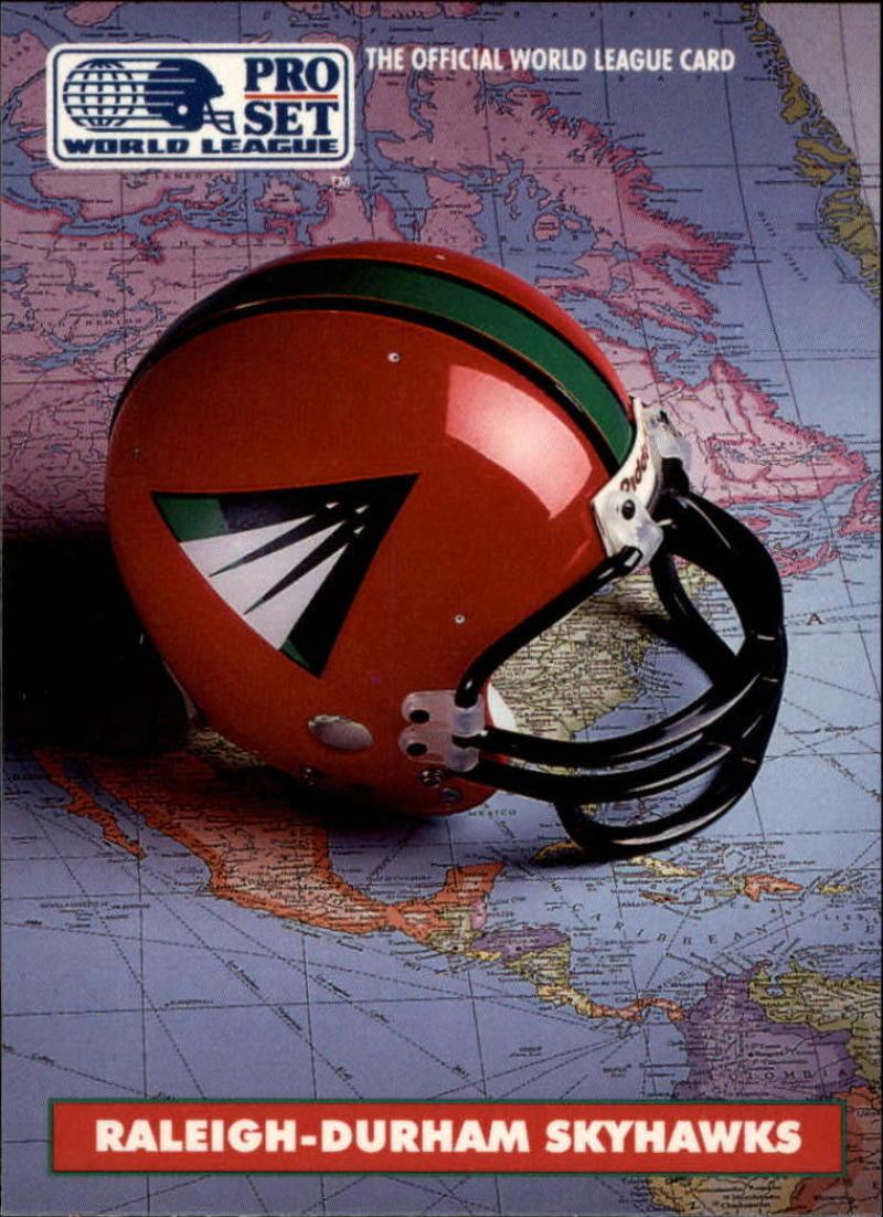 1991 Pro Set WLAF Helmets #8 Raleigh-Durham Skyhawks