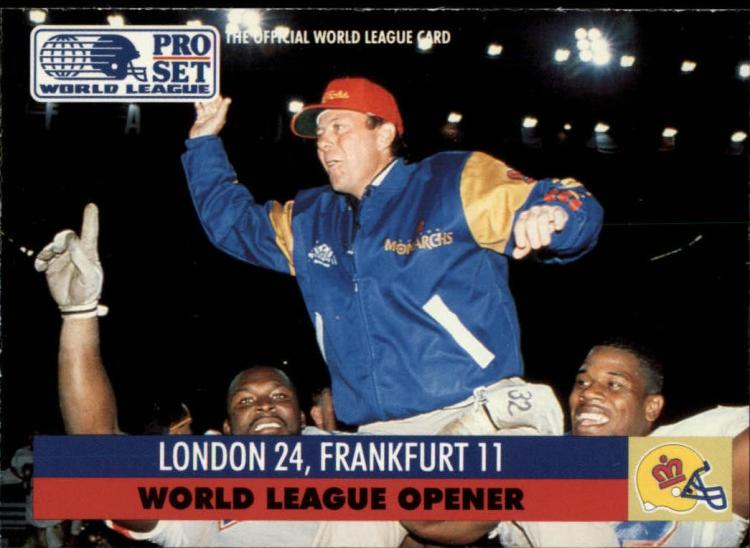 1991 Pro Set WLAF Inserts #2 World League Opener VG/EX