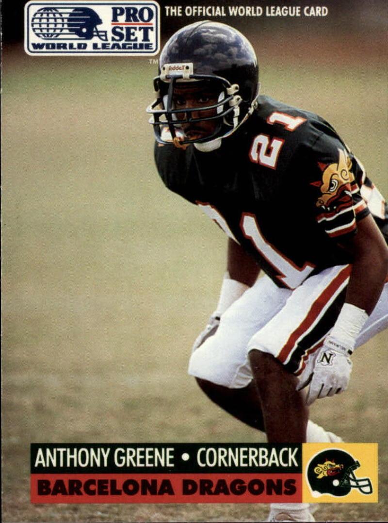 1991 Pro Set WLAF Inserts #5 Anthony Greene EX