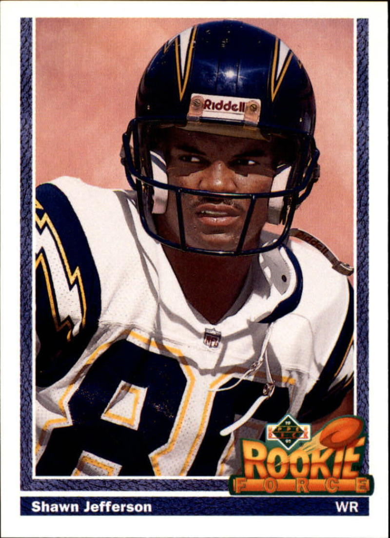 1991 Upper Deck #608 Shawn Jefferson NM RC-Rookie