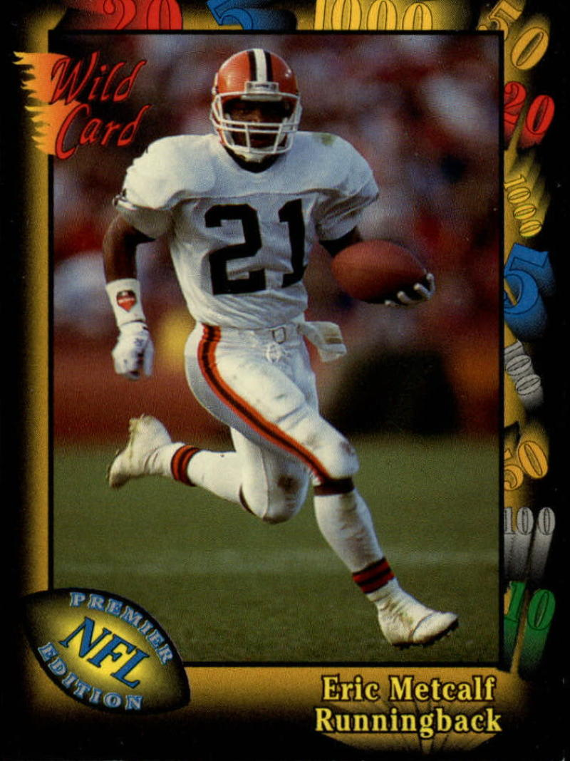 1991 Wild Card #58 Eric Metcalf EX