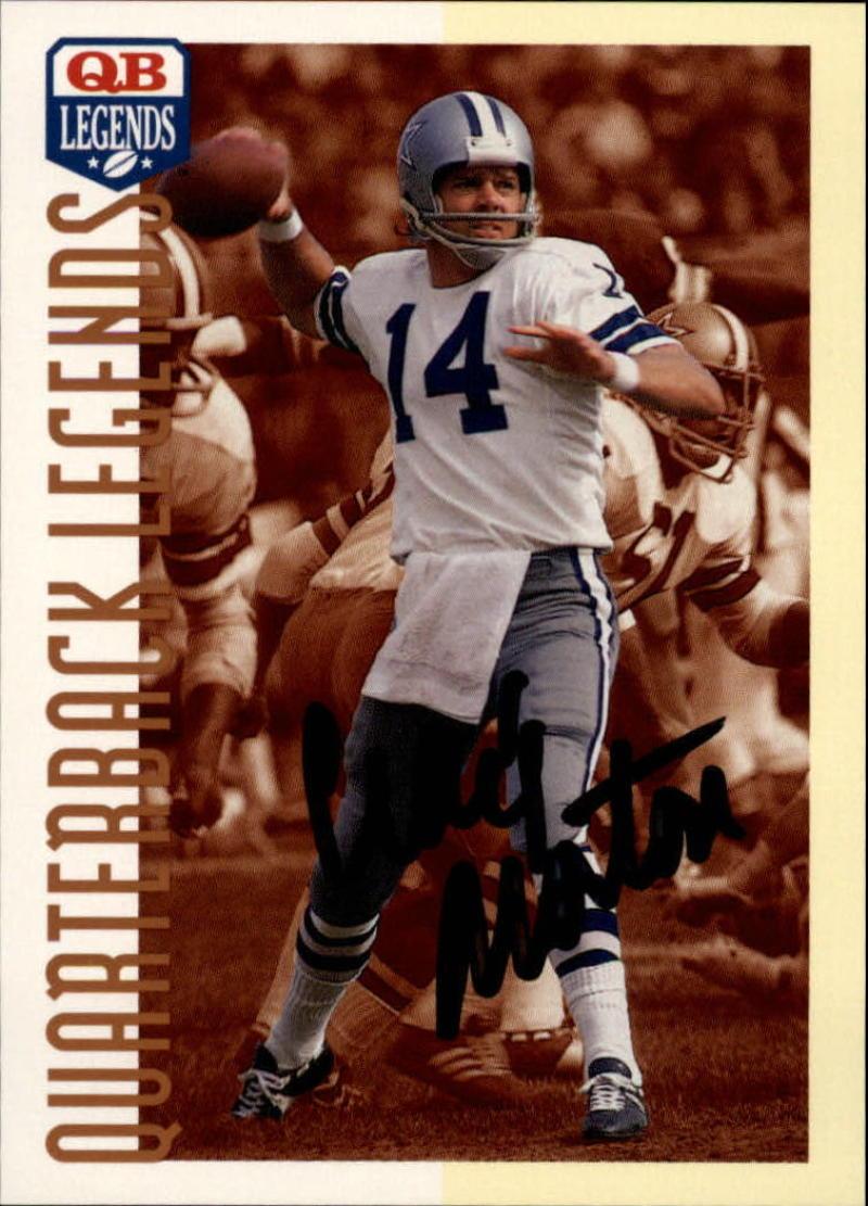 1993 Quarterback Legends #33 Craig Morton Autographed
