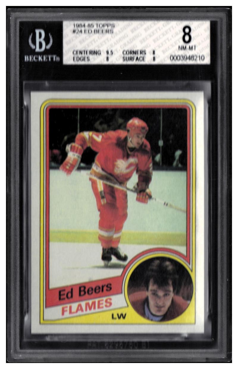 1984-85 Topps #24 Ed Beers Beckett BGS 8