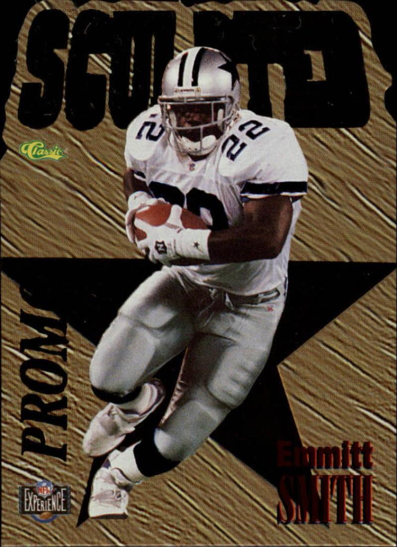 1996 Classic NFL Experience Sculpted #XXX Promo Emmitt Smith NM Cowboys