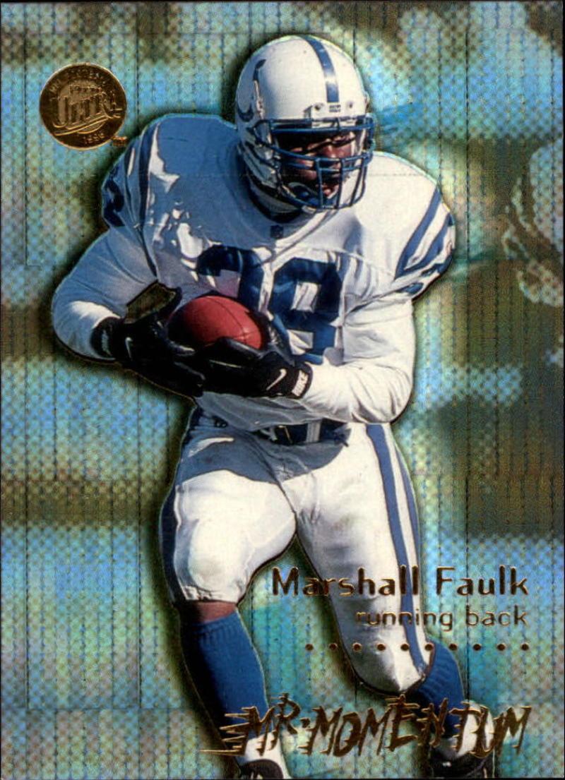 1996 Fleer Ultra Mr. Momentum #5 Marshall Faulk  Colts