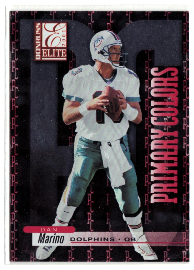 2001 Donruss Elite Primary Colors #PC6 Dan Marino  #'d/975