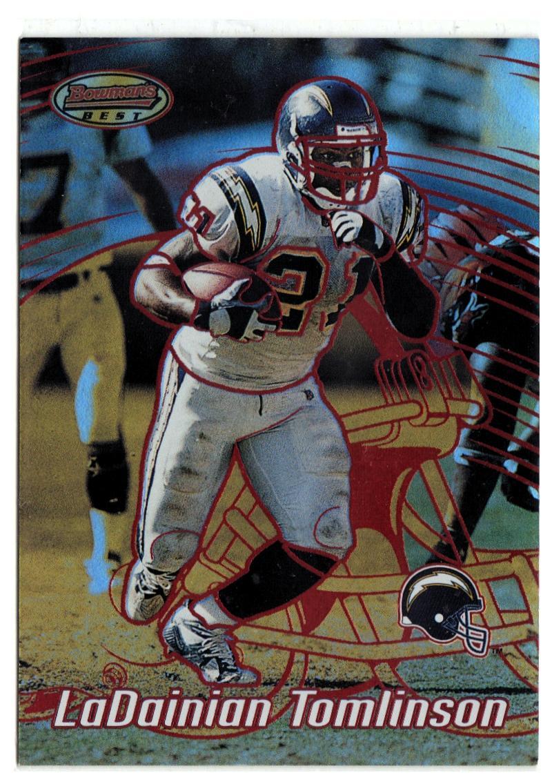 2002 Bowman's Best Red #11 LaDainian Tomlinson EX/NM #'d/200