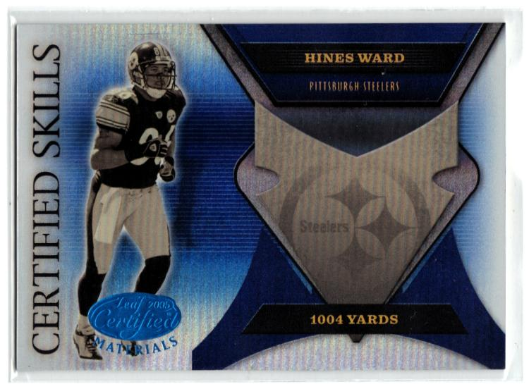 2005 Leaf Certified Materials Certified Skills Blue #48 Hines Ward  #'d/100