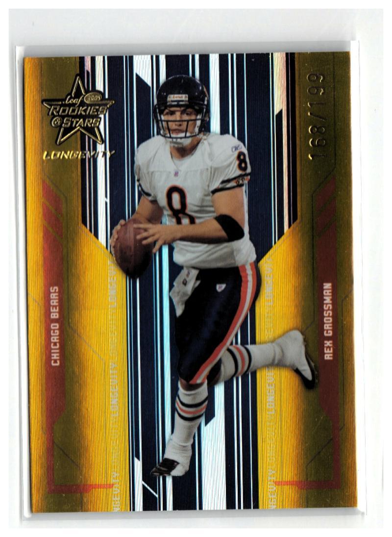 2005 Leaf Rookies & Stars Longevity Gold #18 Rex Grossman  #'d/199