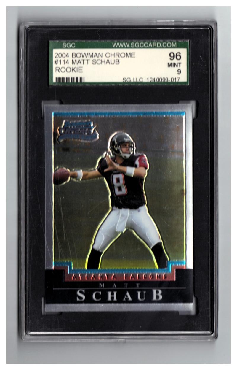 2004 Bowman Chrome #114 Matt Schaub SGC 96 Mint RC-Rookie Falcons