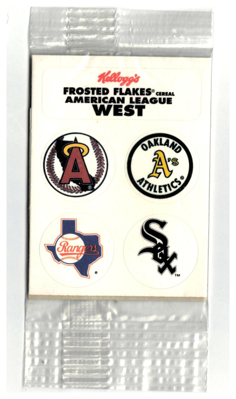 1992 Kellogg's Frosted Flakes AMERICAN LEAGUE WEST STICKERS DECALS #NNO (Unopened) Pack