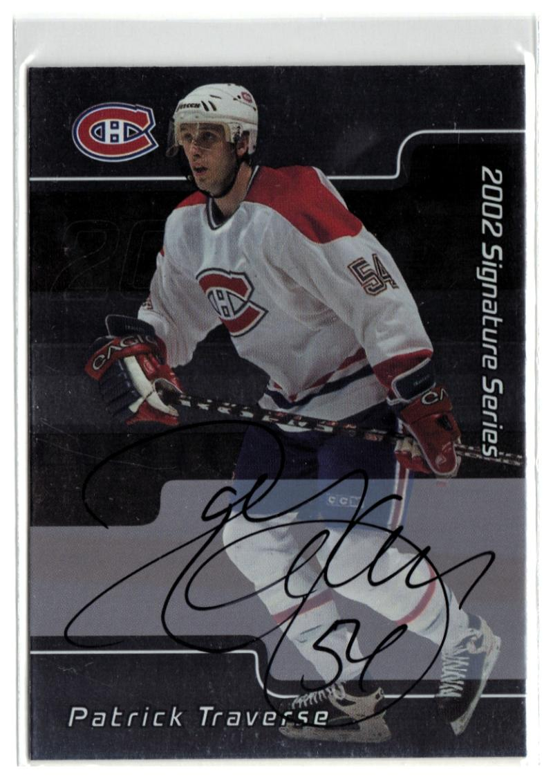 2001-02 BAP Signature Series Autographs #79 Patrick Traverse  Canadiens
