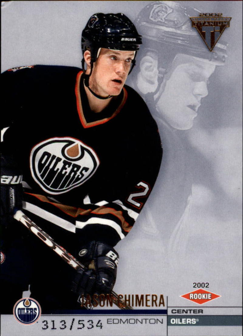 2001-02 Titanium Retail #157 Jason Chimera  RC #'d/534 VG/EX  Oilers