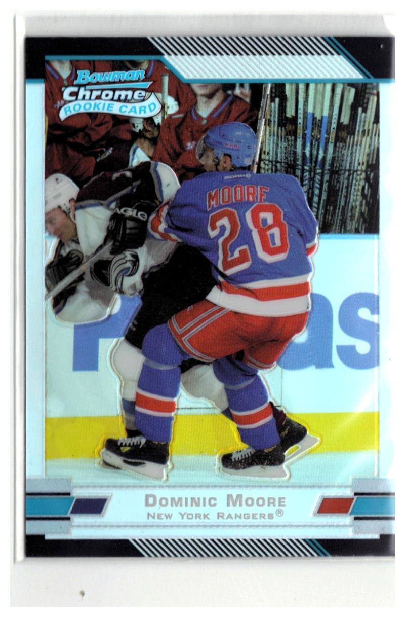 2003-04 Bowman Chrome Refractors #126 Dominic Moore  #'d/300 NY Rangers