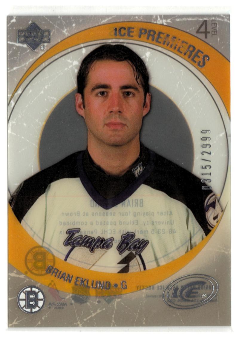 2005-06 Upper Deck Ice #208 Brian Eklund  RC-Rookie #'d/2999 Bruins