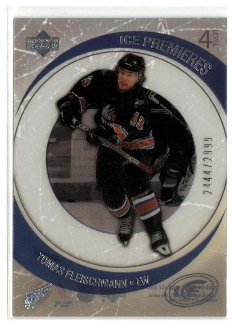 2005-06 Upper Deck Ice #210 Tomas Fleischmann  RC-Rookie #'d/2999 Capitals