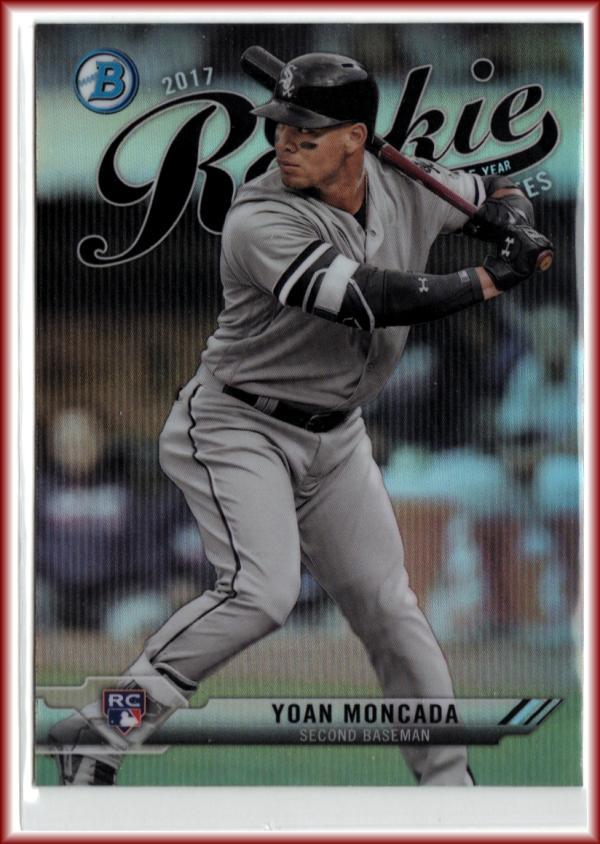 2017 Bowman Chrome Rookie of the Year ROY Favorites #ROYF-1 Yoan Moncada