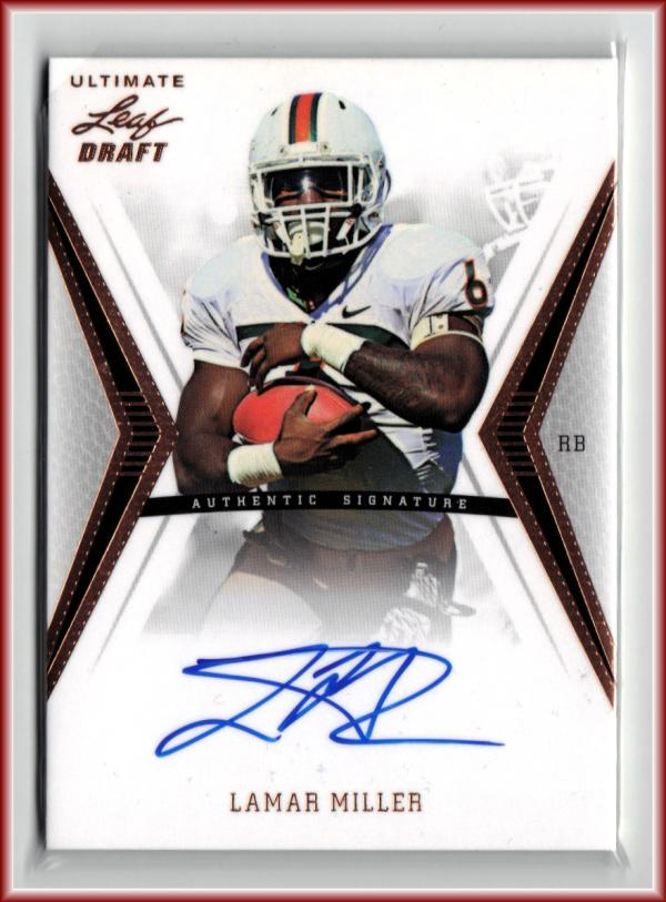 2012 Ultimate Draft #LM1 Lamar Miller  Auto Football